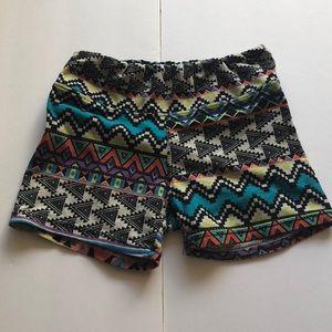 tribal aztec print shorts